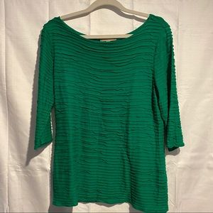 Banana Republic Women's Size L Top Shirt Green EUC